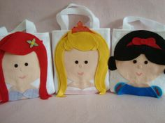 loot bags, princess party, parti