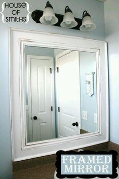 DIY Framed Mirror Tutorial