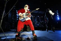 Flea of the Red Hot Chili Peppers performs in Park City, Utah, December 20th, 2002.