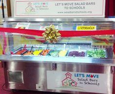 Beautiful new salad bar presented to Burrville Elementary School in Washington, DC