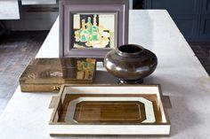 Steven Gambrel Eglomise Tray gold/brass