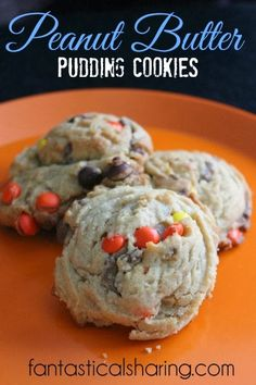Peanut Butter Pudding Cookies   www.fantasticalsharing.com   #cookies #recipe