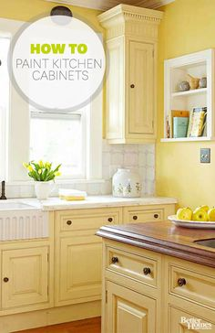 Painting kitchen cabinets can update your kitchen without the cost or challenge of a major remodel. See step-by-step how to update old cabinets with paint.