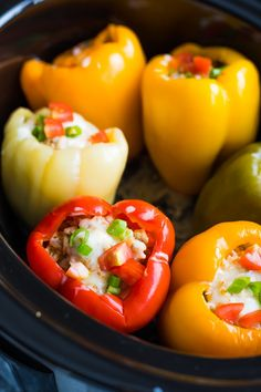 Freezer Meal: Crock Pot Stuffed Peppers Recipe