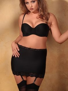 "Shapewear. 11"" Shaper Skirt with Garters. The perfect secret weapon for the little black dresses and skirts in your closet. Includes removable garters. http://shrsl.com/?~3xku  $24.95"