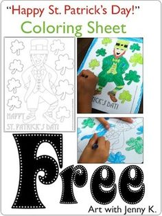 """Free coloring sheet """"Happy St. Patrick's Day"""""""