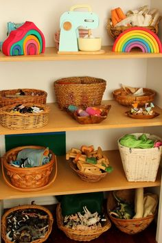 this brown wren: toys open-ended toys organized in baskets