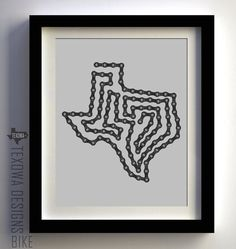 Texas Bike Chain Art Print!