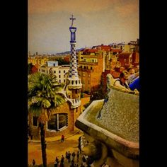 One of the Gaudi houses at Park Guell