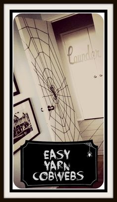 Easy Yarn Cobwebs.  Project by sketchystyles.com