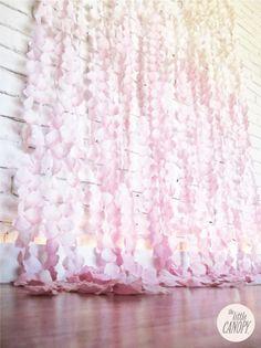 flower petal backdrop, curtain backdrop, ceremony backdrop, flower petal curtain, vintage weddings, silk flowers, wedding vintage, handmade flowers, flower curtain