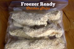 These Oven Baked Chicken Strips are the perfect freezer meal. Recipe uses whole wheat panko bread crumbs. These strips are healthy, crunchy and delicious! freezer meal