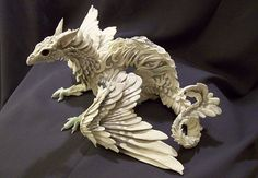 CUSTOM ORDER  White Dragon by creaturesfromel on Etsy, $165.00