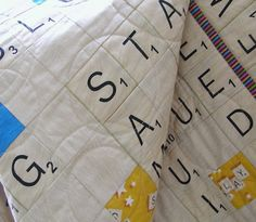 Scrabble Board Quilt/Throw