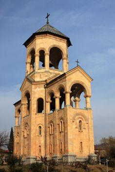 Republic of Georgia, Tbilisi - Clock Tower of Sameba Cathedral
