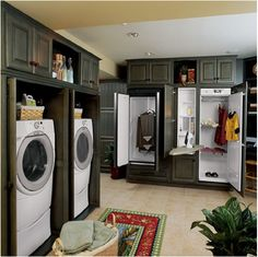 This is a serious laundry room