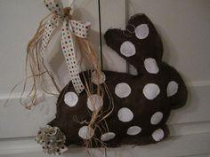 Burlap Door Hanger Bunny burlap door hangers, door decor