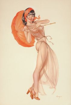 ~Alberto Vargas Oriental Beauty, Playboy pin-up, 70s