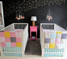 Gorgeous Twin Nurseries (good ideas for siblings sharing a room)