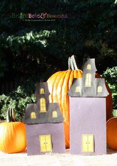 DIY Haunted House Halloween Treat Bags