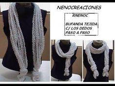 Bufanda de cadenetas hechas con las manos