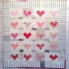 Kviltstina - beautiful heart quilt!