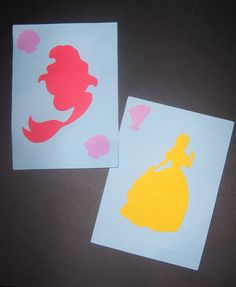 Disney princess silhouette invitations