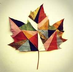 Art Meets Nature: Painted Leaves by Gabee Meyer Photo