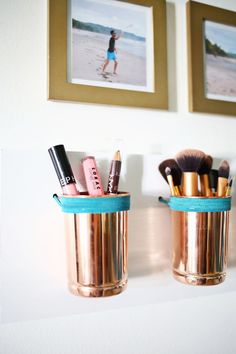 Leather + Copper Cup