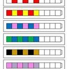 Unifix cubes pattern cards