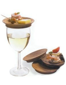 Wine glass top appetizer plates
