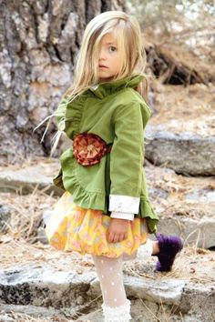 ruffl jacket, polka dots, green corduroy, moss green, etsi, corduroy ruffl, jackets, gingers, leggings
