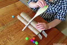 Catapult games are the perfect reward for completion of building a catapult {Super Simple Catapult}