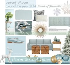 """Benjamin Moore Color of The Year 2014 - Breath of Fresh Air"" by jenniferkoper on Polyvore"