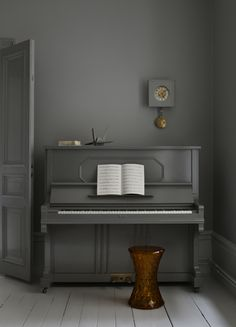 Painted piano.