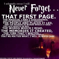 I solemnly swear to...never forget