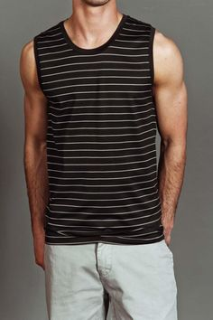 SMOOTH CO. LUCIA STRIPE MUSCLE TANK