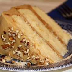 Southern Caramel Cake. This is what my dad wants for his birthday. Hope I can make it!