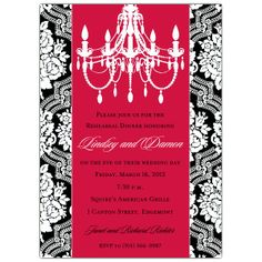 INVITATION WITH A PICTURE OF A CHANDELIER  | wedding rehearsal dinner invitations sku 609 57 065 rd r chandelier ...