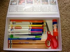 using pencil boxes purposefully