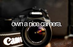 Own a {really} nice camera. (Among other {really} nice photography equipment.)