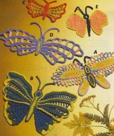 charts, craft, butterflies, crochetbutterfli, borboleta em, crochet butterfli, crochet patterns, flower, design