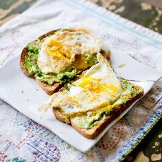 eggs on avocado toast