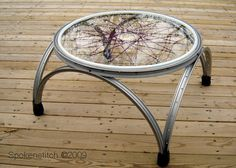 recycl, small tables, bicycles, coffee tables, bicycl wheel, wheels, bike wheel, coffe tabl, bike rim