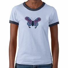 Butterfly Cross Stitch Tshirts