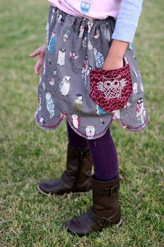 Simple Scallop Skirt Tutorial from @Prudent Baby