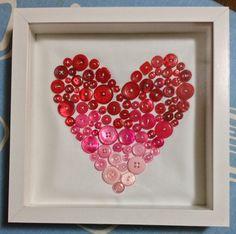 ombre button heart :: Silver Threads of Happiness