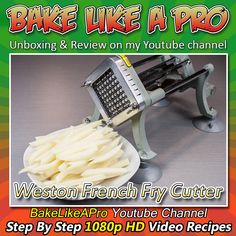 Professional Weston French Fry Cutter Unboxing And Review. I'll unbox and assemble this industrial French Fry cutter, and show how well it cuts a potato.  In the next video we'll use this French fry cutter to make perfect French fries at home !  My Facebook Page: http://www.facebook.com/BakeLikeAPro My Twitter: http://twitter.com/BakeLikeAPro http://instagram.com/bakelikeapro  Please subscribe, like and share if you can, I do appreciate it. ► http://bit.ly/1ucapVH