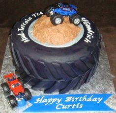 truck tire, tire cake, idea, monster trucks, birthdays, trucks birthday cake, monsters, parti, monster truck birthday cakes