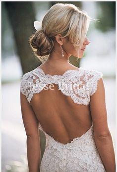 Custom Lace Wedding dressOpen back sexy classic by JesseBridal, $369.99